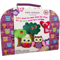 Sewing Kit for beginners, DIY crafts for kids, The Most Wide-Ranging Kids Sewing Kit, Over 110 Quality Kids Sewing Supplies, Includes booklet of cutting shapes stencils for beginners in sewing.