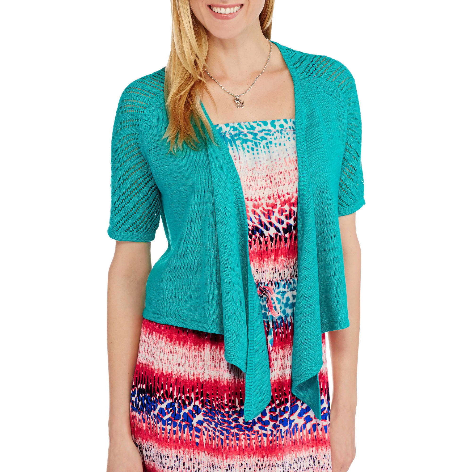 Faded Glory Women's Tie-Front Shrug