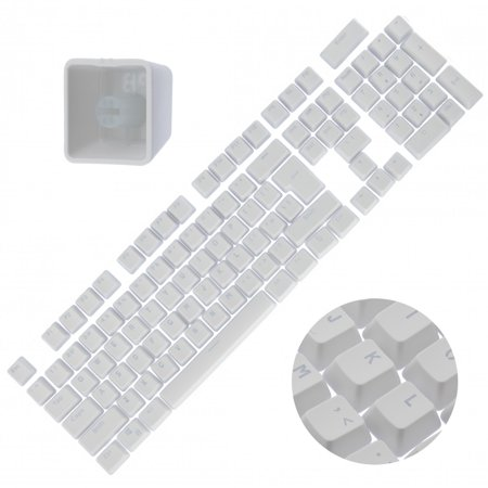 Backlit Double Shot Color Keycaps Cherry MX Mechanical Keyboard Themes White