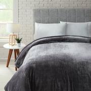 Better Homes & Gardens Luxury Velvet Plush Blanket, Full/Queen, Gray