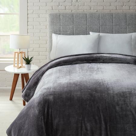 Better Homes & Gardens Luxury Velvet Plush Blanket, Gray, Multiple Sizes