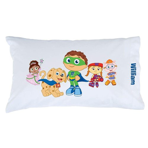 Personalized Super Why! Pals and Pup Pillowcase
