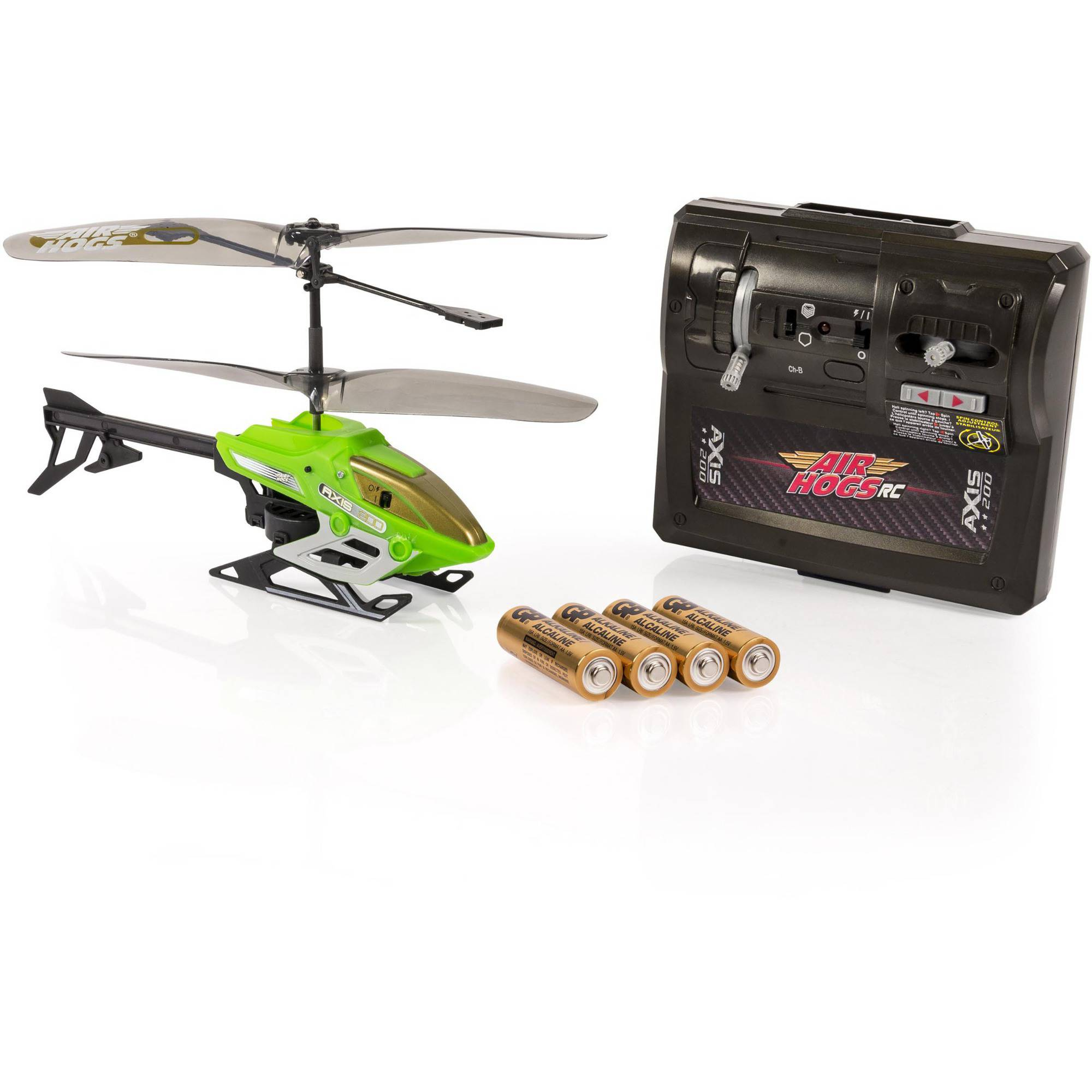 Air Hogs Axis 200 R/C Helicopter with Batteries, Green