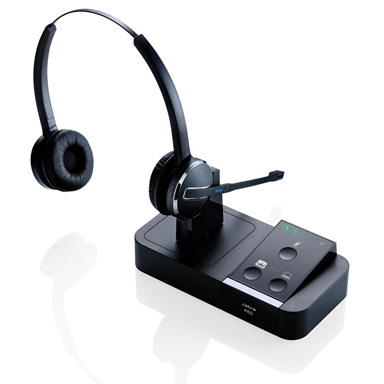 Jabra Pro 9450 Duo Flex Boom Wireless Headset for Desk Phone and Softphone