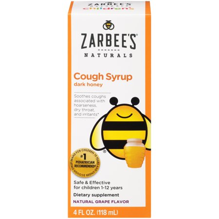 Zarbee's® Naturals Children's Cough Syrup with Dark Honey, Grape 4 fl. oz. Box Childrens Formula Cough Syrup