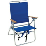 Rio Hi Boy Beach Chair With Backpack Straps Aluminum Frame 17 Inch Seat Height