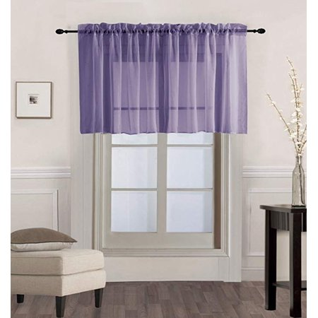 1PC Solid Sheer Valance Drape in 55