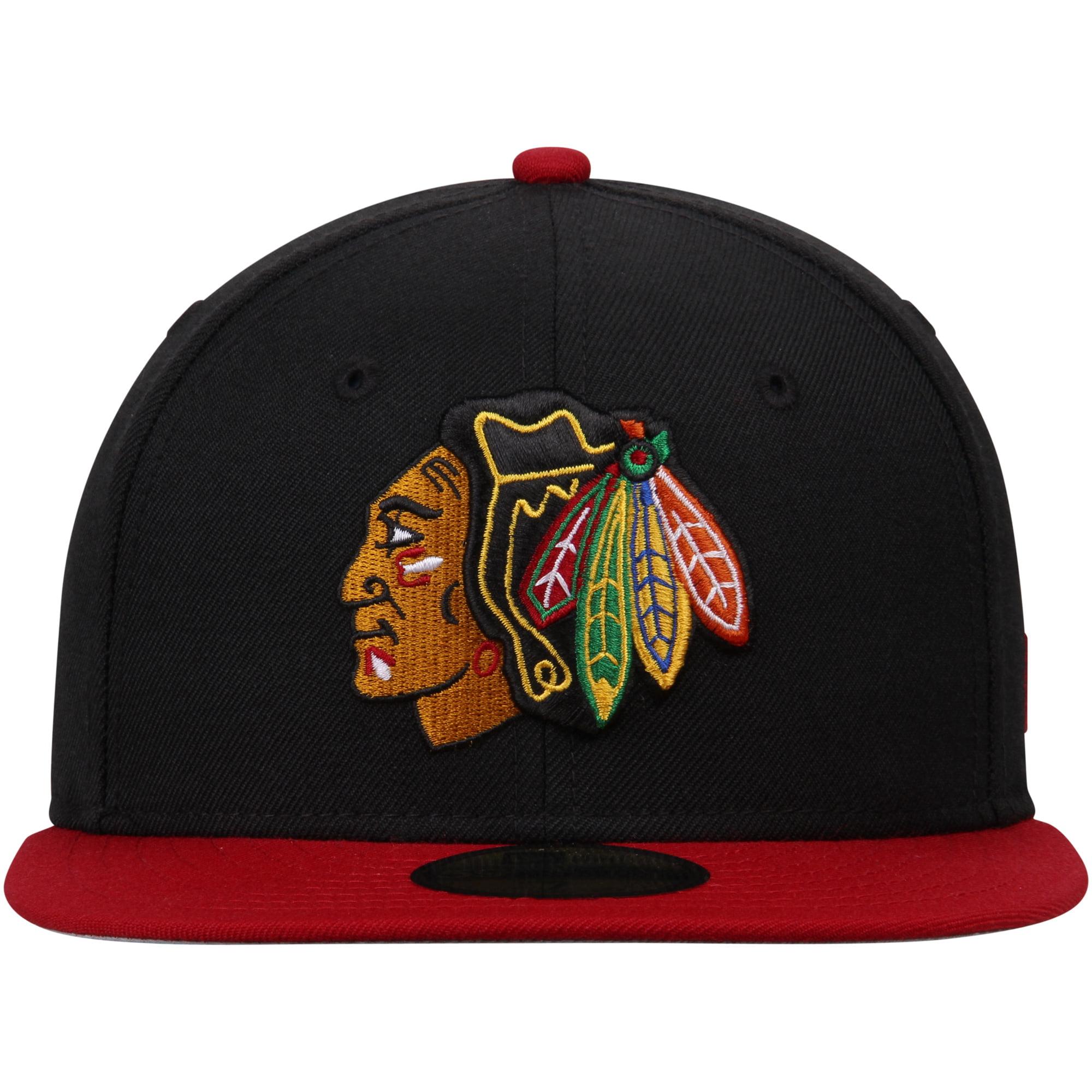 parhaiten rakastettu valtava inventaario erityinen kenkä chicago blackhawks new era 2-tone 59fifty fitted hat - black ...