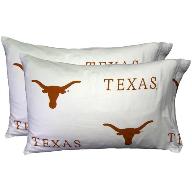 College Covers NCAA Texas Pillowcase (Set of 2)