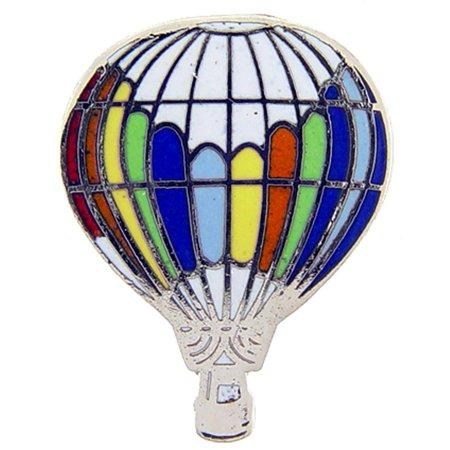 Hot Air Balloon Pin White Top 1