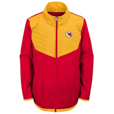 Youth Red/Yellow Kansas City Chiefs Polar Full-Zip Jacket