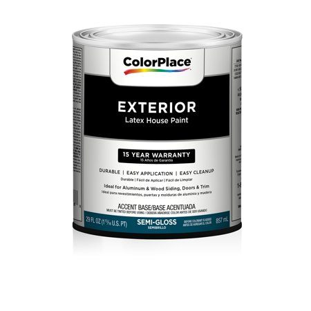 Colorplace exterior semi gloss paint accent base for Satin enamel vs semi gloss exterior
