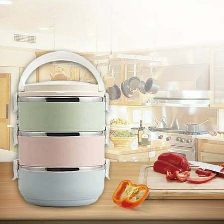 HC-TOP Compact Size Lunch Box Thermal For Food Bento Box Stainless Steel Lunch Box - image 1 de 6