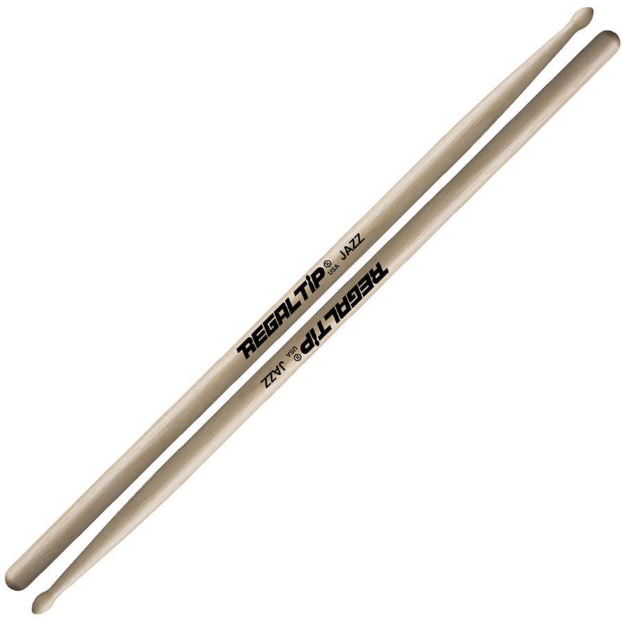 Regal Tip 211R Hickory Jazz Wood Tip Drumsticks by Pops
