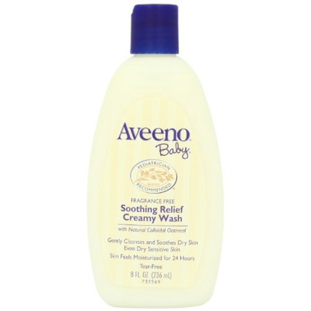 AVEENO Baby Fragrance Free Soothing Relief Creamy Wash 8 oz Each