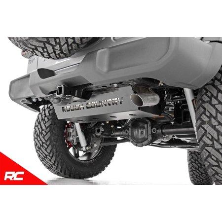 Rough Country Skid Plate Muffler Armor (fits) 2018-2019 Jeep Wrangler JL 10599 Muffler Skid Plate JL ()