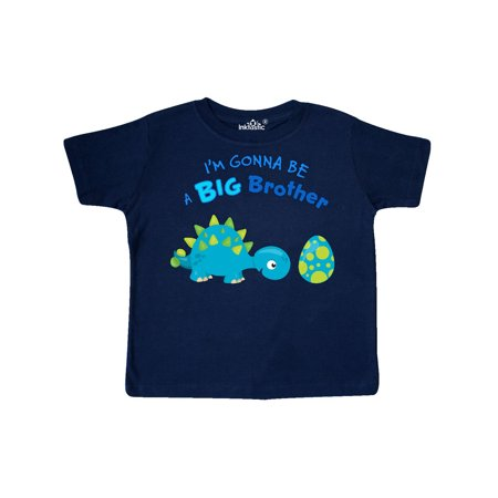 Happy Dinosaur Future Big Brother Toddler T-Shirt (Best Ever Big Brother)