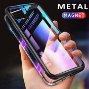 Strong Magnetic Case cover for iPhone 11 Pro Back Glass Phone Cases For iPhone 5.8 inch Cover(Black)