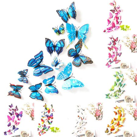 Wall Decal Cartoon Simulated Butterfly Removable Wall Paper Living Room Decor - image 5 de 6