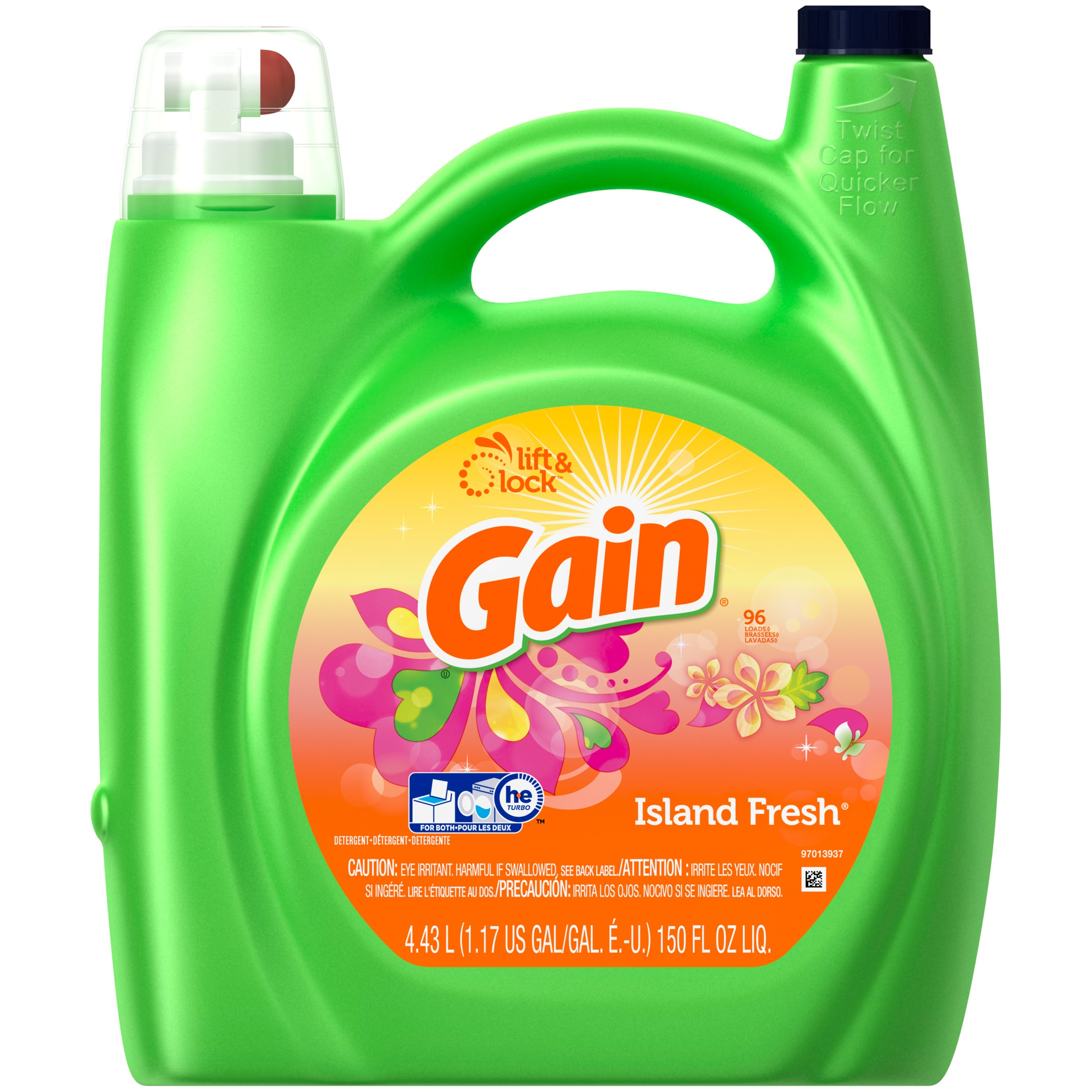 Gain Island Fresh Liquid Laundry Detergent, 150 Oz