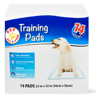Pet All Star Training Pads, 22 in x 22 in, 14 Count