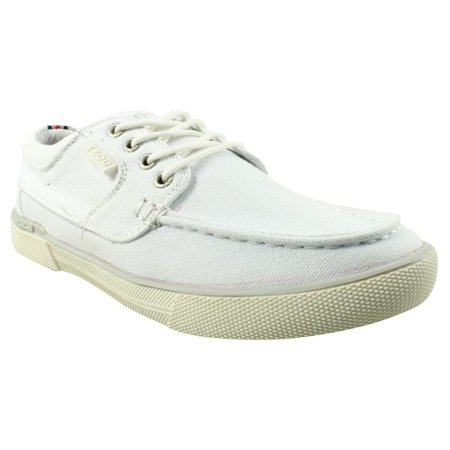 IZOD Mens White Boat Shoes Size 7