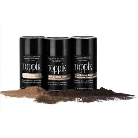 Toppik Hair Building Fibers - Dark Brown 12g (Best Hair Fiber Powder)