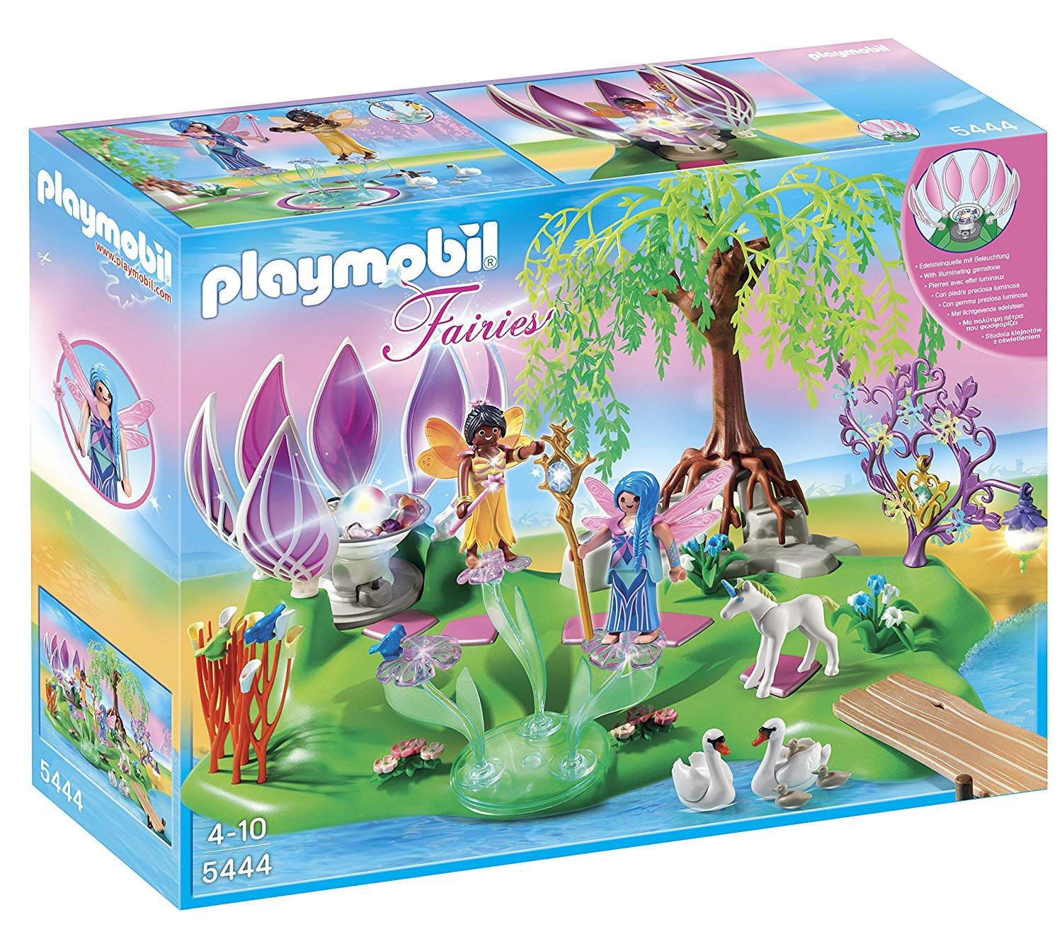 PLAYMOBIL Fairy Island with Jewel Fountain Playset by Photographic Research Organization, Inc
