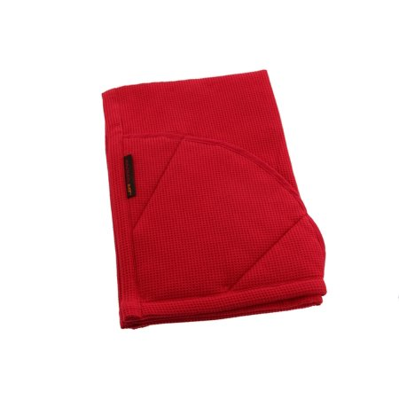 Rachael Ray Kitchen Towel and Oven Glove Moppine – A 2-in-1 Kitchen Towel with Pot-Holder Pockets – Red / Pack of 1