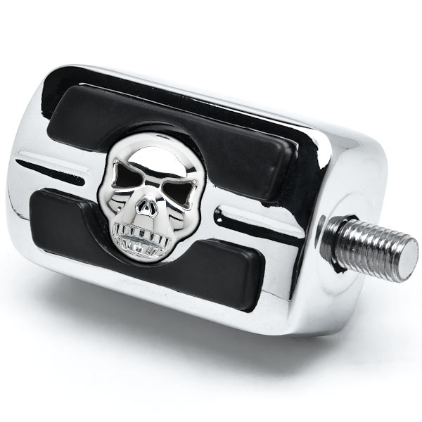 NEW Chrome Skull Skeleton Shift Peg Cover for Harley Davidson Motorcycle Cruiser - image 1 of 3