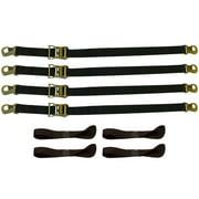 "8-Piece HD Snap-Hook Ratchet Motorcycle Tie-Down strap set (72""L x 2""W)"