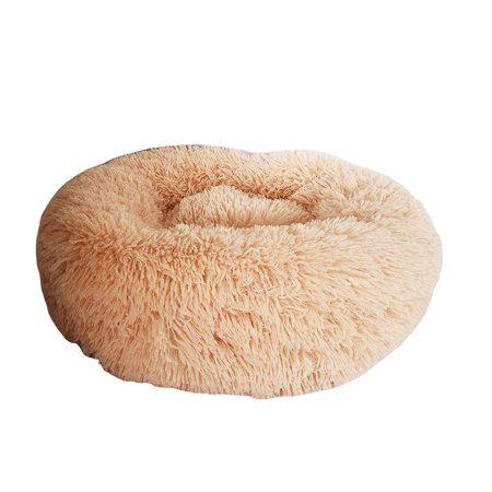 Winter Pet Nest Round Long Hair Kennel Cat Litter Comfortable Warm Pet Nest - image 1 of 7