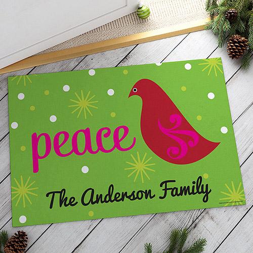 Personalized Robin Zingone Peace Doormat