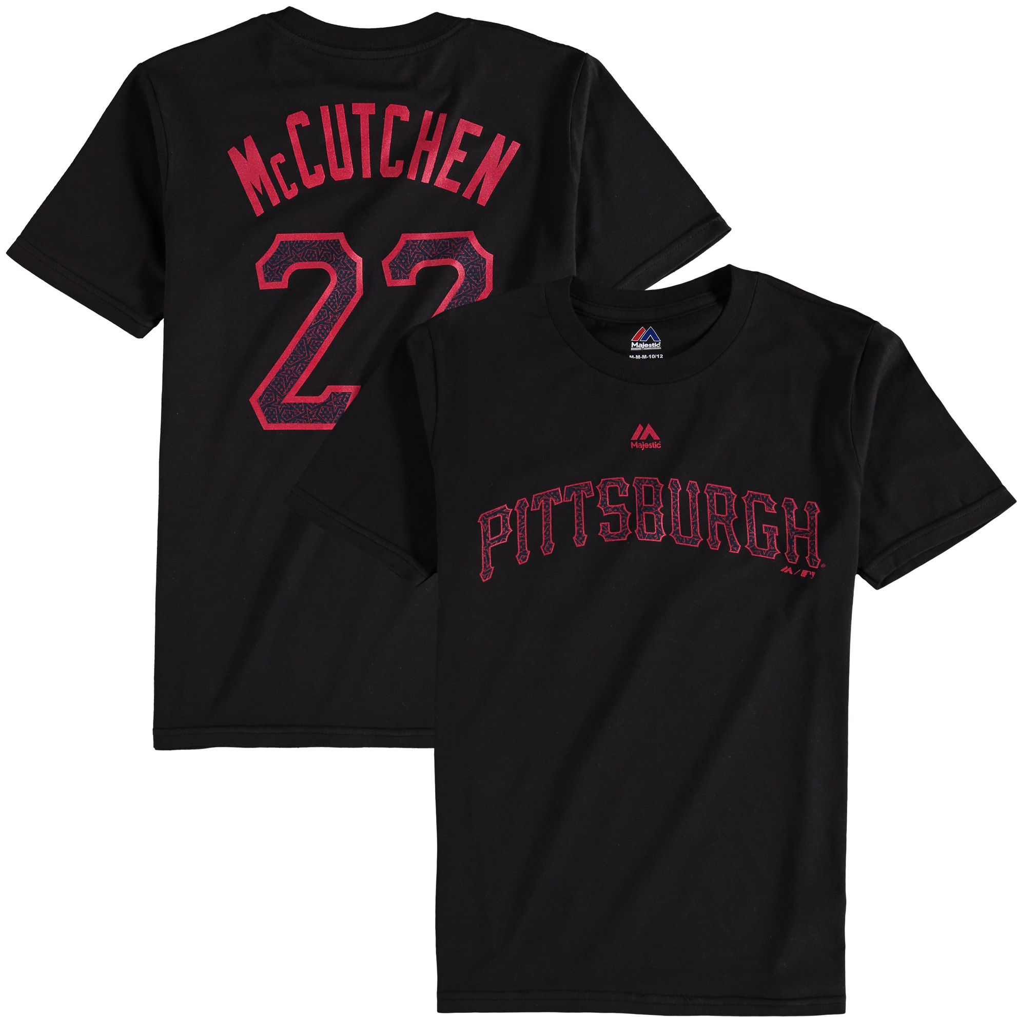 Andrew McCutchen Pittsburgh Pirates Majestic Youth Stars & Stripes Name & Number T-Shirt - Black