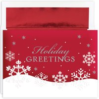 """Great Papers!® Holiday Greeting Card, Holiday Flakes, 16 Cards/16 Foil-Lined Envelopes, 7.875""""x5.625"""""""