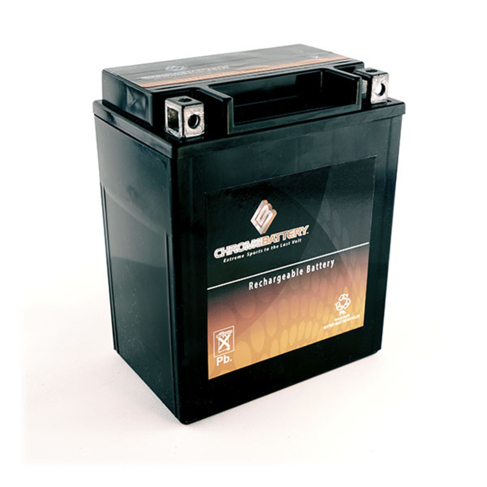 Chrome Battery M00016-10000 YB14L-A2 High Performance Maintenance Free Sealed AGM Motorcycle Battery