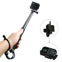 AMZER Handheld Aluminium Extendable Pole Monopod with Screw & Strap & Remote Control Buckle for GoPro HERO5 Session /5 /4 Session /4 /3+ /3 /2 /1, Xiaoyi Sport Cameras, Adjustment Length: 36-110cm