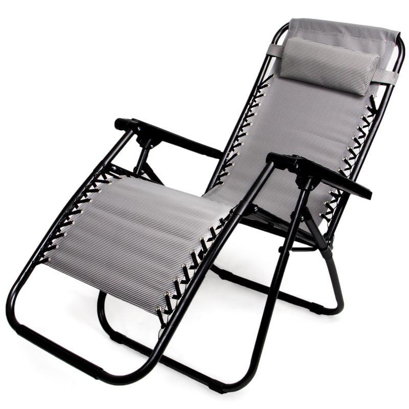 Brybelly Zero Gravity Folding Lounge Chair, Gray