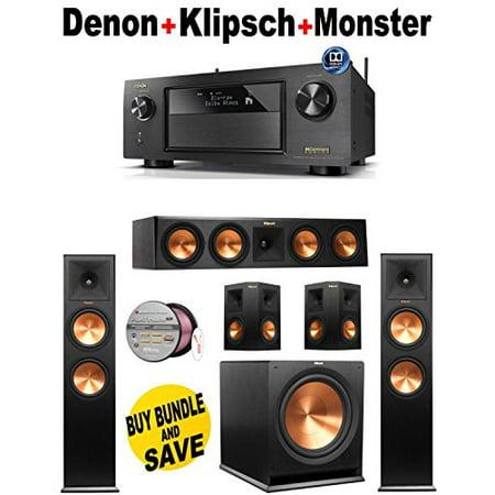 Denon-AVRX4200W + 2 Klipsch-RP280FBK + Klipsch-RP450CBK + 2 Klipsch-RP250SBK + Klipsch-R115SW + Monster... by