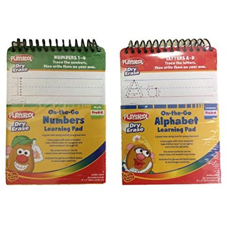 (Playskool Dry Erase On-The-Go Alaphabet(A-Z) & Numbers(1-20) Learning Pad Set Of 2)