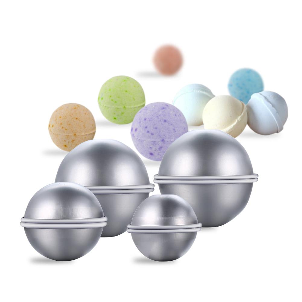 eZAKKA Bath Bomb Mold Metal Bath Bomb Making Kit DIY Homemade Bath Bomb Fizzy Balls for Women