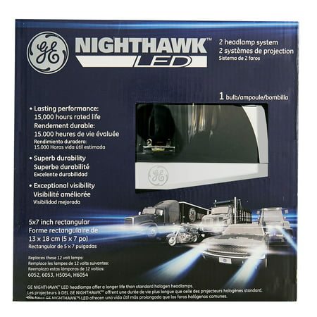 GE Lighting 69822 Nighthawk LED 5x7 Inch Sealed Beam Headlight, 1 -