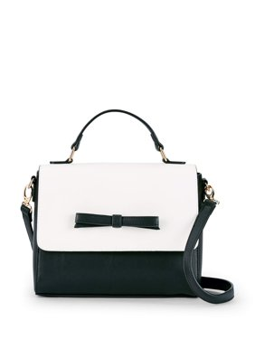 Metallic Sky Top Handle Bow Satchel