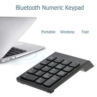 Number Pad,Wireless Numeric Keypad,HURRISE Wireless Bluetooth Number Pad Numeric Keypad 18 Keys Digital Keyboard for Laptop Auto Sleep