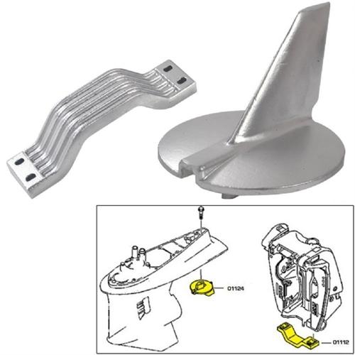 Tecnoseal Anode Kit - Yamaha 200-250 HP - Magnesium - Polybag 21104MG
