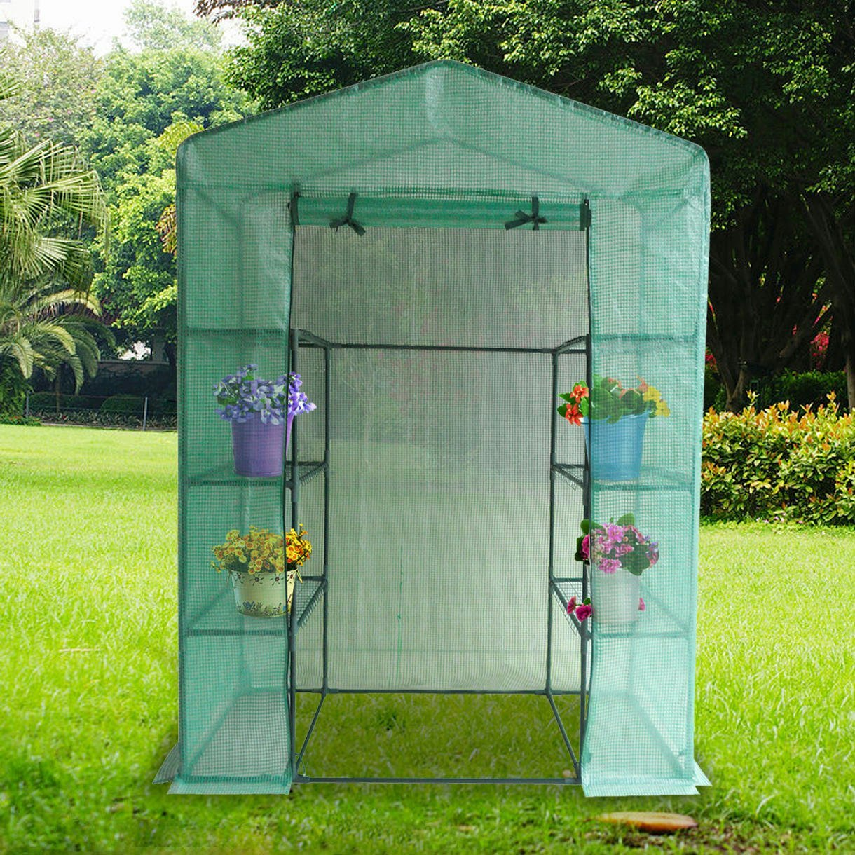 Quictent Shelves Portable Mini Greenhouse Green Grow Garden plant Hot House by