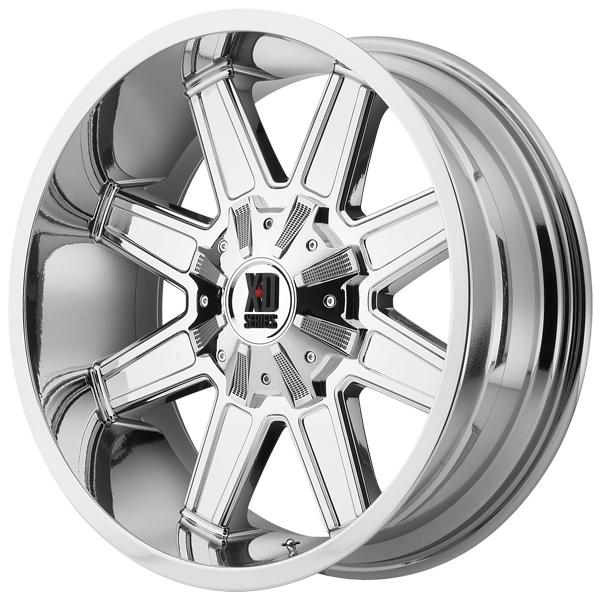 XD Series XD823 Trap 18x10 8x180 -24mm PVD Chrome Wheel Rim