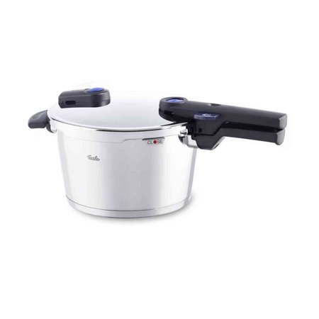 Fissler Vitaquick 4.8 Quart Stainless Steel Stove Top Steam Pressure Cooker Pot ()