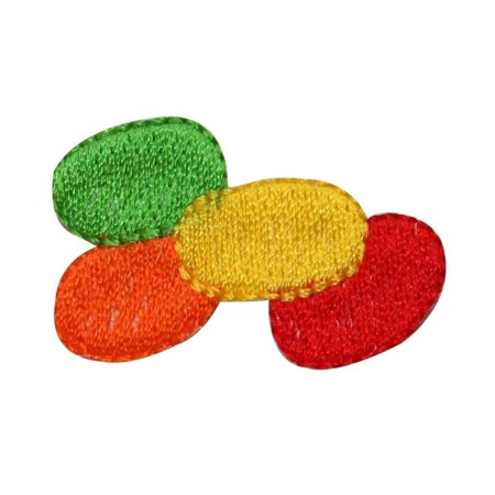 Easter Jelly Beans (ID 3351 Pile of Jelly Beans Patch Easter Candy Treat Embroidered IronOn)