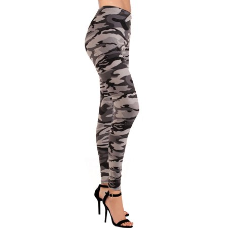 LAVRA Women's Ultra Soft Printed Fashion Leggings Camo Animal (Animal Print Legging Set)